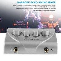 Karaoke Sound Mixer Professional Audio System Portable Digital Audio Sound Karaoke Machine Mixer System Karaoke Player silver