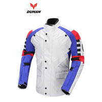 DUHAN Windproof Motorcycle Jacket Off road Racing Protective Removable Warm Lining Jackets Motorcycle Anti Fall Riding Coat