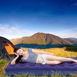 Image 3 - أريكة هوائية قابلة للنفخ سرير قابلة للطي أثاث خارجي حديقة أريكة سرير غرفة المحمولة لينة متعددة الوظائف فراش سرير قابل للطي 5 أحجام
