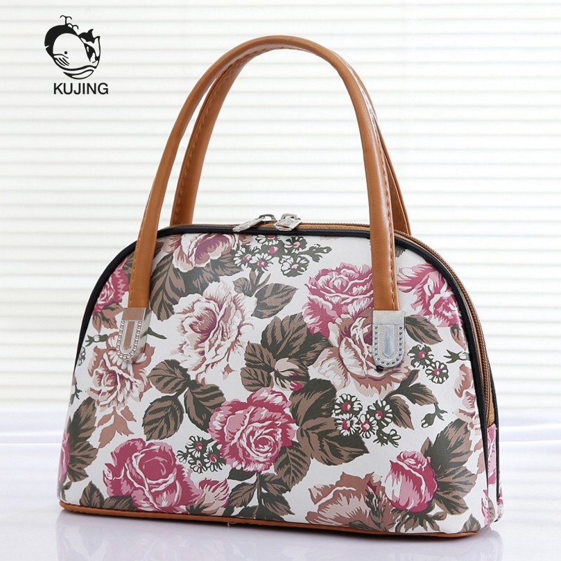 0e2f5a5b2e86 US $9.83 45% OFF|KUJING Handbags High Quality Middle And Old Women Handbags  Hot Casual Mommy Bag Free Shipping Fashion Phone Turnover Handbag-in ...