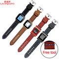 Laopijiang Галечный Время стали/Смарт Часы 22 ММ часы с Кожаный Ремешок Для Часов