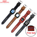 Laopijiang Pebble Time steel/Smart Watch 22MM watch with Leather Watchband