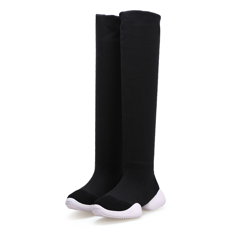 2018 new women shoes over the knee boots thigh high boots stretch fabric fashion women boots