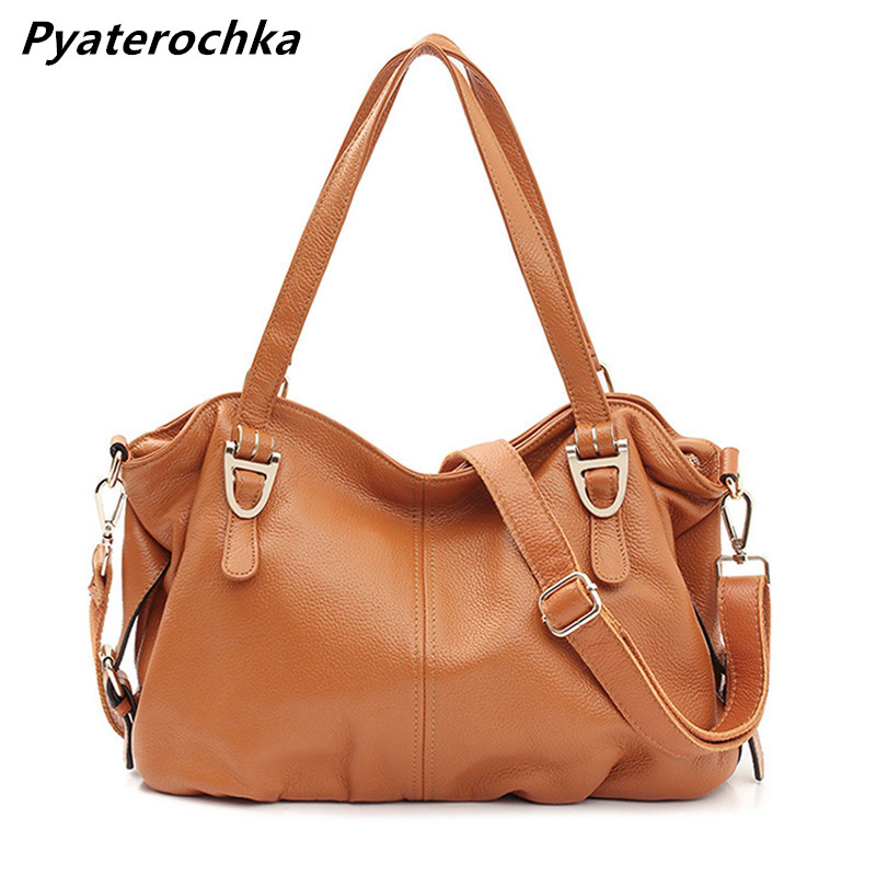 Women Genuine Leather Shoulder Bag Casual Crossbody Handbags Bags 2018 Luxury Ladies Casual Tote Bag Designer Famous Brands Bags laorentou cowhide leather shoulder bag ladies leather luxury handbags women bags designer ladies shoulder bag casual tote