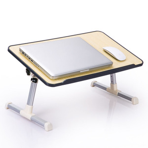 Image 4 - Simple Laptop Table Bed Desk Students Dormitory Reading Studying Desk Folding Lifting Computer Desk Small Table