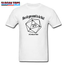 ef2f252abb 2019 Newest T Shirts DnD Men T-shirt How Do You Want To Do This Cotton  Black Tshirt D20 Dungeons Dragons Dice RPG Tops & Tees