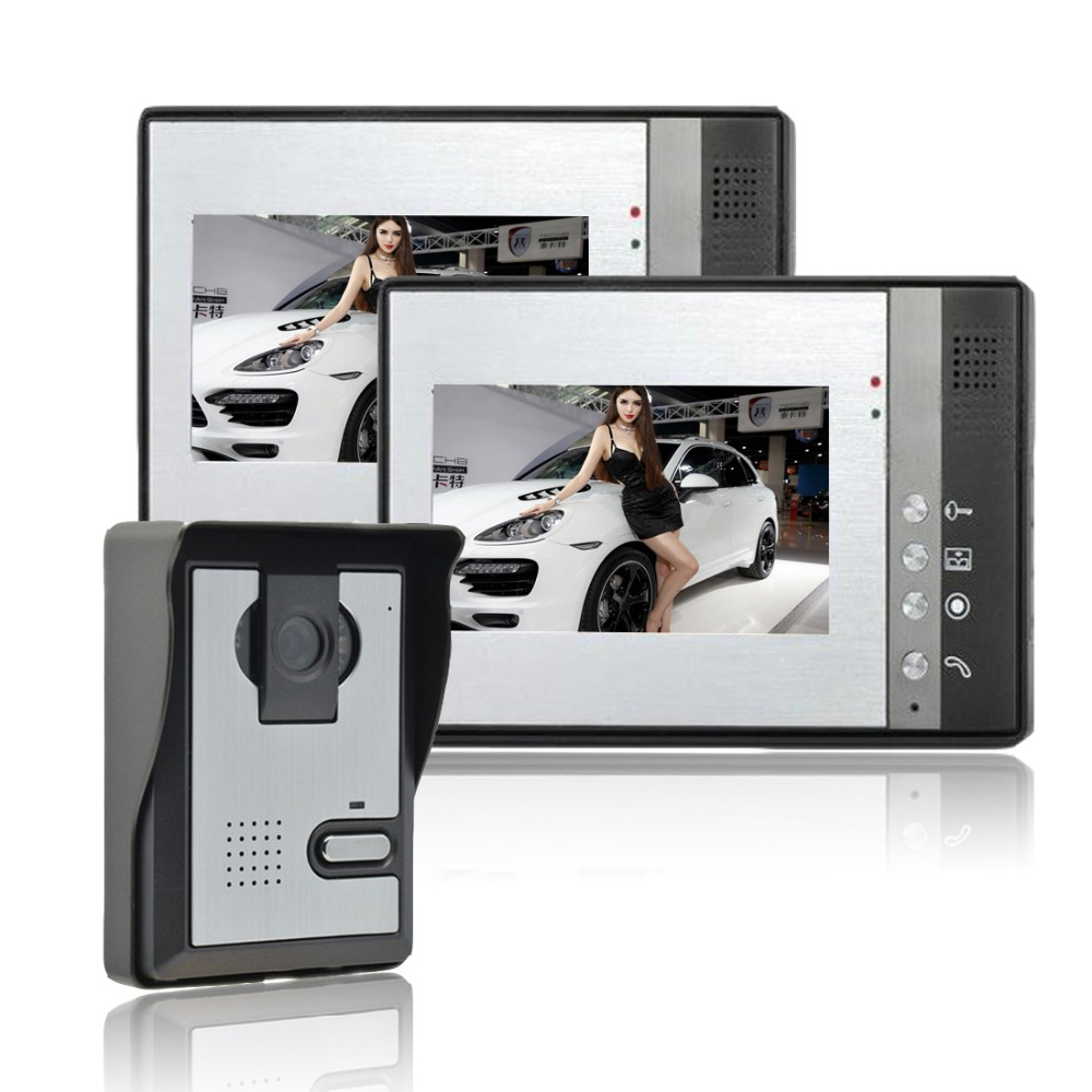 Home Security 7 inch TFT LCD Monitor Video font b Door b font phone Intercom System