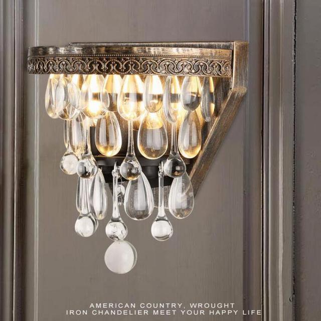 Italy Modern wall lamp luxury crystal wall lamps led wall sconce crystal bar light bedroom bedside wedding hotel wall lighting