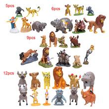 Cartoon król lew Simba figurka zabawka Simba Mufasa Nala hienas Timon pumba Sarab PVC model figurki klasyczne zabawki tanie tanio MicroPlush Puppets Żołnierz gotowy produkt Wyroby gotowe Unisex Jeden rozmiar Approx 3-9cm Zachodnia animiation 12-15 lat