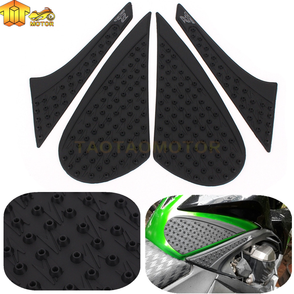 2pcs Motorcycle Anti Slip Tank Pad Side Gas Sheath Knee Grip Traction Pads Protector Sticker For Kawasaki Yamaha Suzuki Motorbike Accessories Decals & Stickers