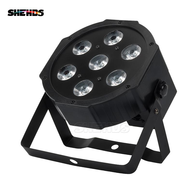 SHEHDS LED 7x12W RGBW Par Light With DMX512 IN/OUT And Power IN&OUT For DJ Stages Night Clubs Disco Hotels Family Birthday Party