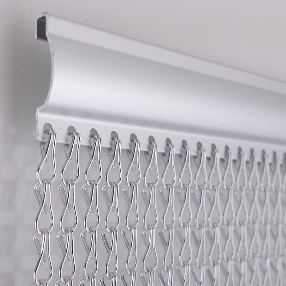 Cortina de ventana de aluminio pantallas de Metal divisores de habitación cadenas colgantes persianas Control de plagas de insectos mosca 22 001-in Biombos y separadores de habitación from Hogar y Mascotas    3
