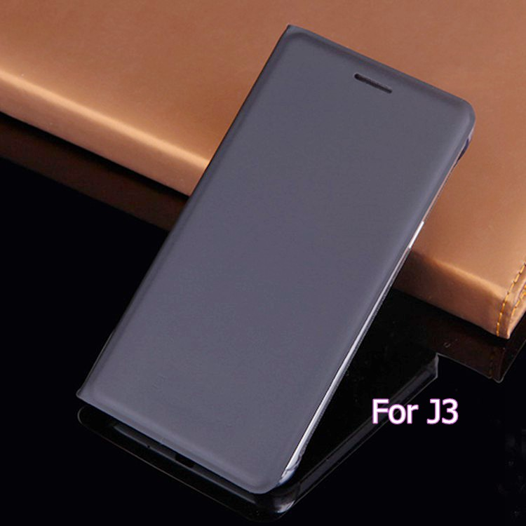 Samsung Galaxy J3 2016 J320 J320F J320H J300 üçün Kart Sahibi Qollu Çanta Maska Tutqunlu İncə Çip Qapaq Dəri Qutusu