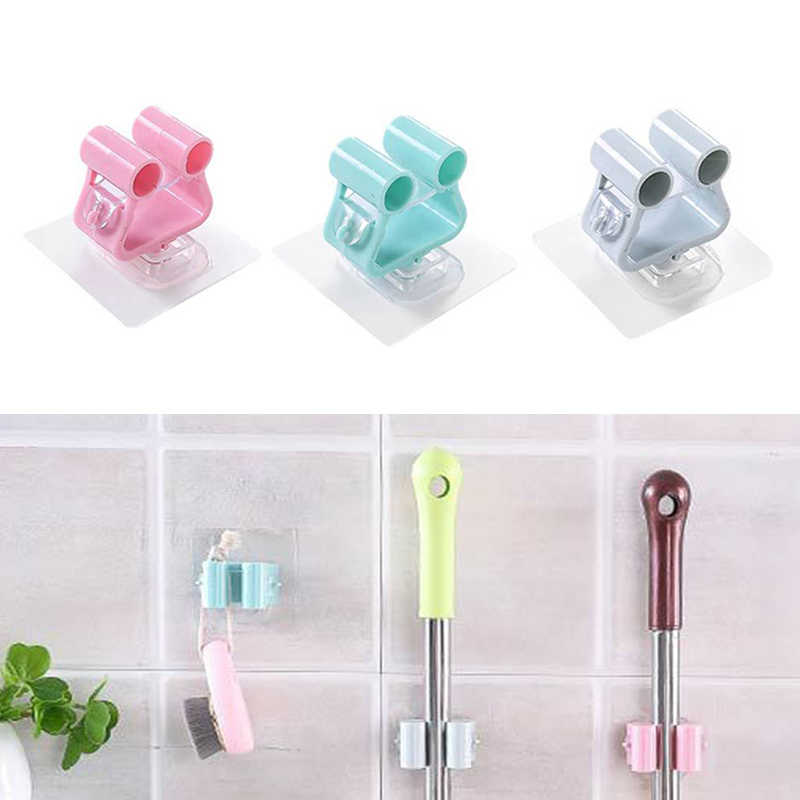 Traceless Sucker Hook Wall Mounted Mop Organizer Holder Brush Broom Hanger Storage Rack Kitchen Tool Wall Housekeeper