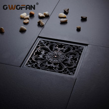 Floor Drains 10*10cm Antique Carved Shower Floor Drain Euro Bathroom Deodorant Square Floor Drain Strainer Cover Grate Waste-703 frap high quality floor drain 20 8 2 cm euro antique brass floor drains cover shower waste drainer bath accessories y38072