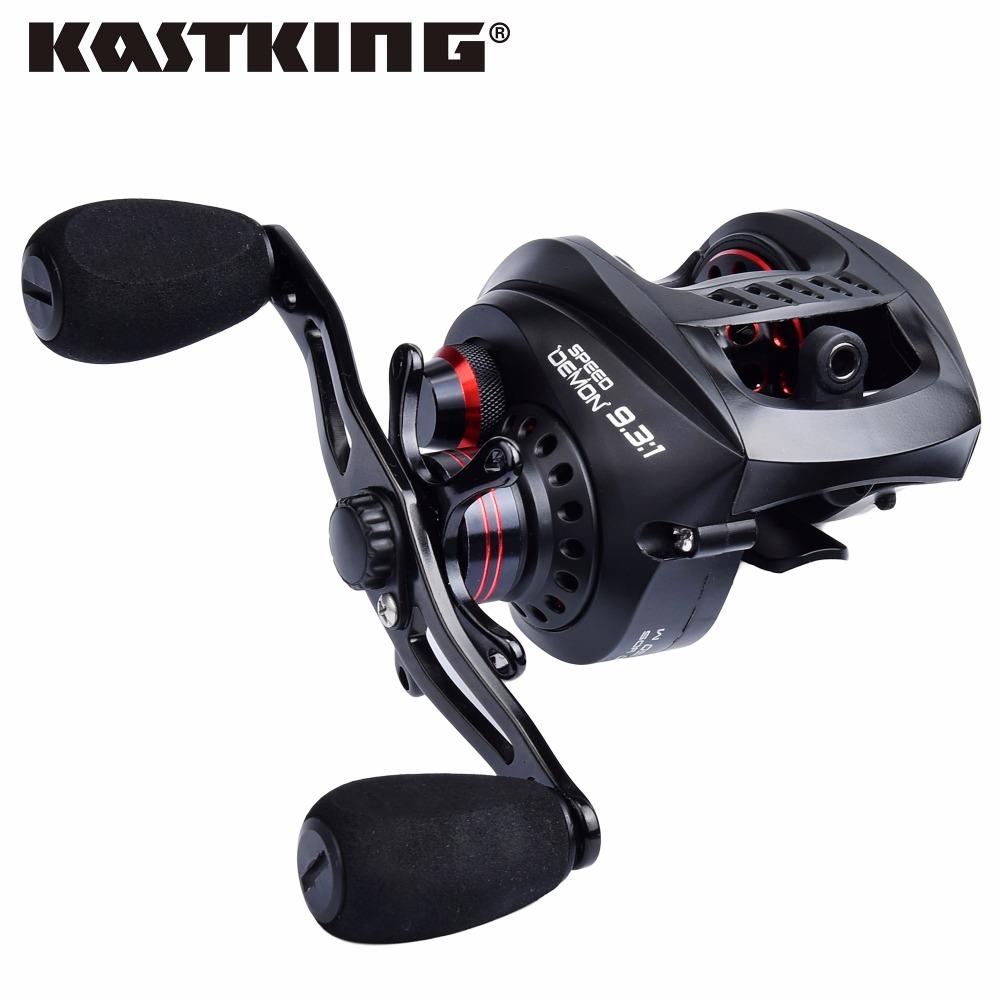 Prix pour Kastking démon de la vitesse 9.3: 1 haute vitesse baitcasting bobine ultra-léger 12 + 1 roulements à billes rivière/lac leurre moulinet de pêche