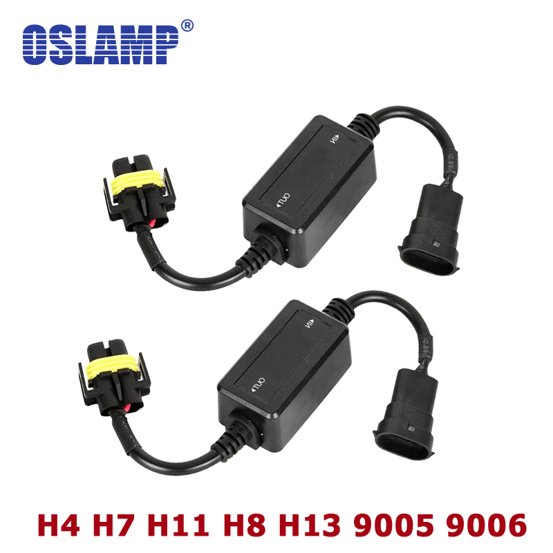 Oslamp Error Free Canbus Decoder for LED Car Headlight Bulb Kits for SUV Fog Lamps H4 H7 H8 H11 H13 9005/HB3 9006/HB4  partol h4 h13 h7 h8 h9 h11 hb3 9005 hb4 9006 car led headlight bulbs canbus fog lamp light decoder resistor wire harness adapter