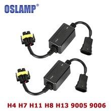 Oslamp ошибок Canbus декодер для Светодиодный фар для автомобиля внедорожник светодиодный шарик автомобиля Противотуманные огни может-bus H4 H7 h8 H11 H13 9005/HB3 9006/HB4