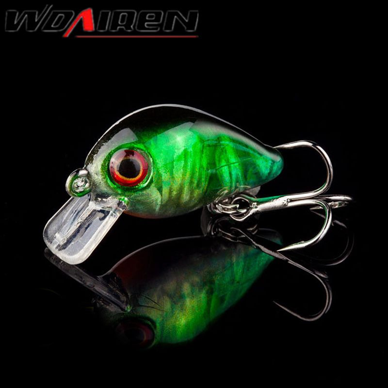 1Pcs 3cm 1.5g topwater Swim Fish Fishing Lure Artificial Hard Crank Bait Wobbler Japan Mini Fishing Crankbait lure WD-033