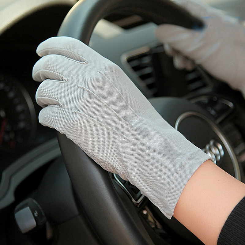 Summer Sun Protection Gloves Male Thin Style Breathable Anti-Slip Driving Five Fingers Man's Gloves New Arrival SZ010W1
