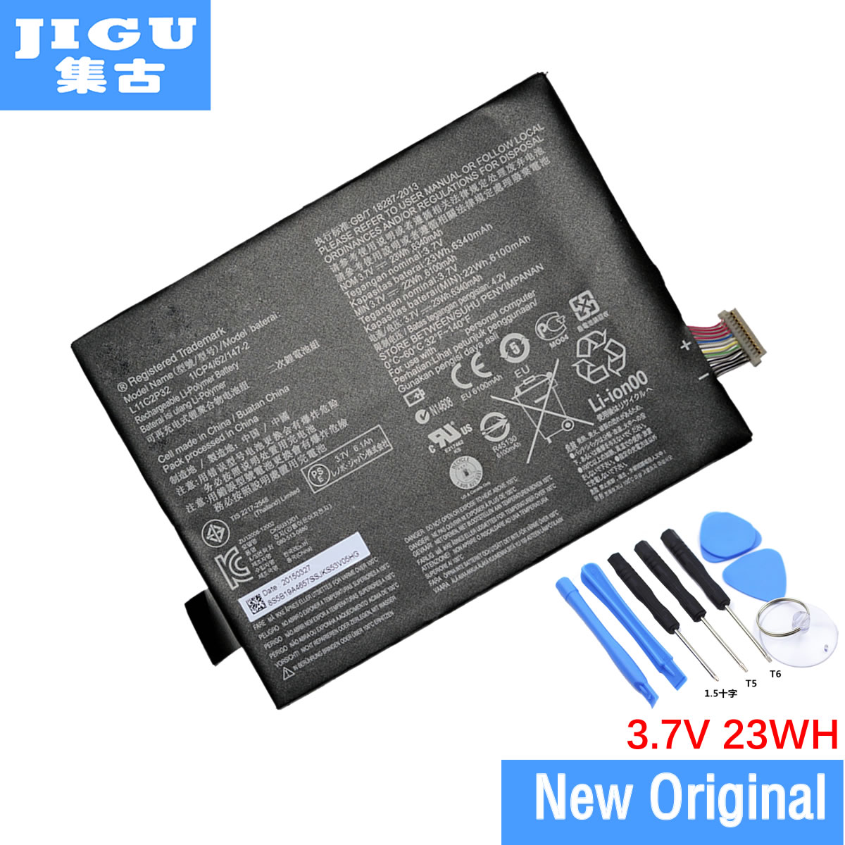 JIGU 100% Original Pc Replacement Battery 6350mAh For Lenovo IdeaTab S6000 Idea Tab S600H B6000-F Bateria L11C2P32