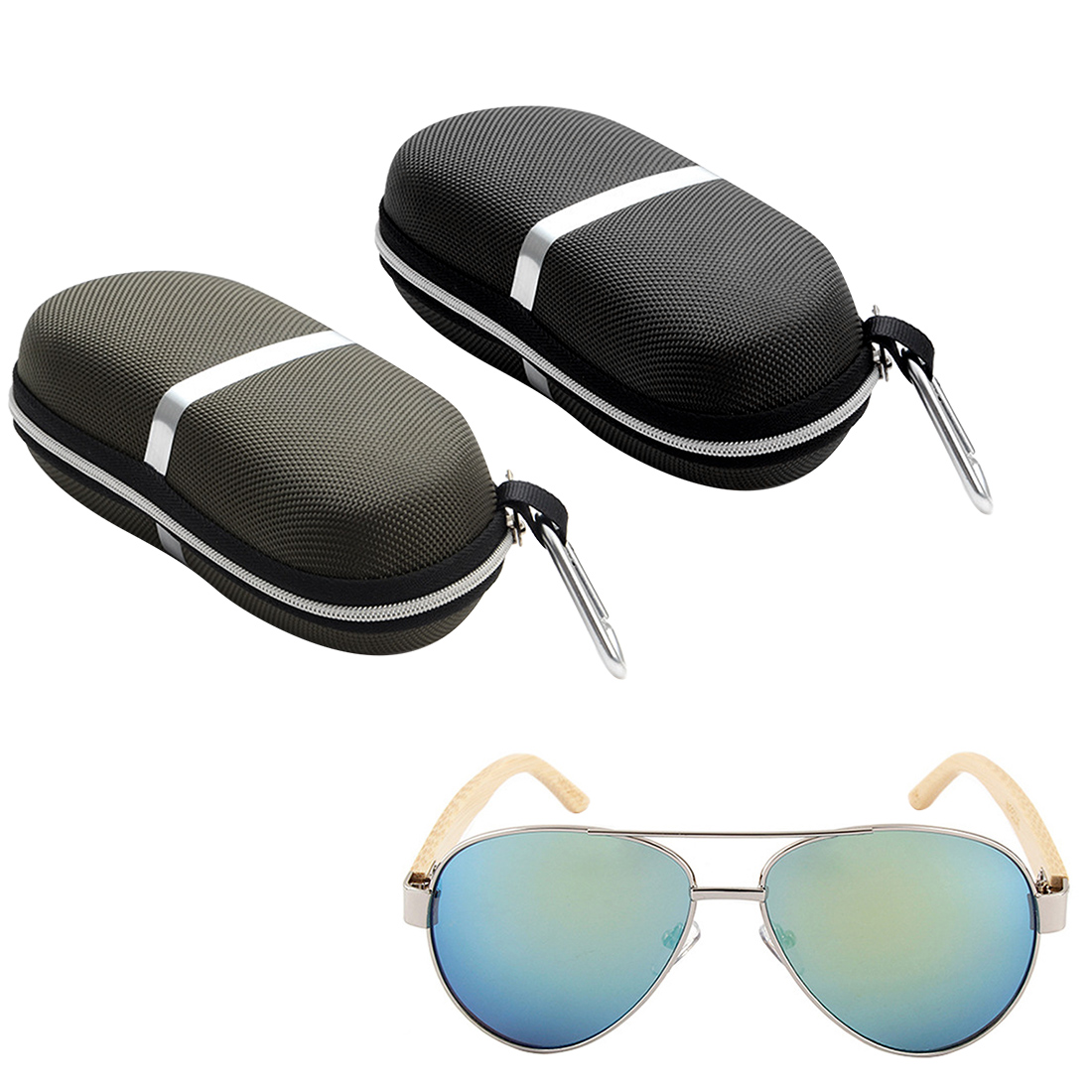 New lentes de contacto de color 2 Colors Sunglasses Reading Glasses Carry Bag Hard Zipper Box Travel Pack Pouch Case in Eyewear Accessories from Apparel Accessories