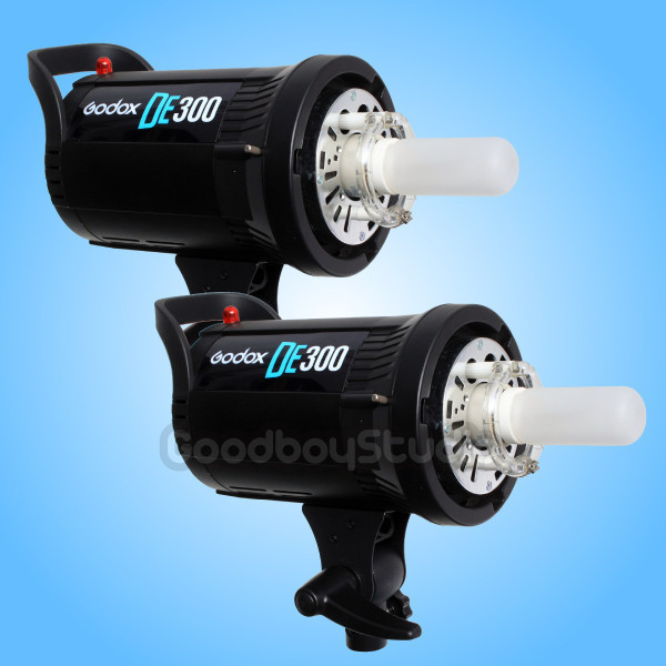 2PCS <font><b>Godox</b></font> DE-<font><b>300</b></font> 300W 300Ws Compact Studio Flash Strobe Light Head 220V 230V X2 image