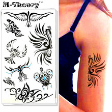 M-Theory 3D Peacock Totem Body Makeup Temporary 3d Tattoos Sticker Henna Flash Tatoos Body Arts Tatto Swimsuit Makeup Tools