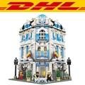 2017 New LEPIN 15018 3196pcs City Creator Series Sunshine Hotel Model Building Kit Blocks Brick Compatible Toy For Children Gift