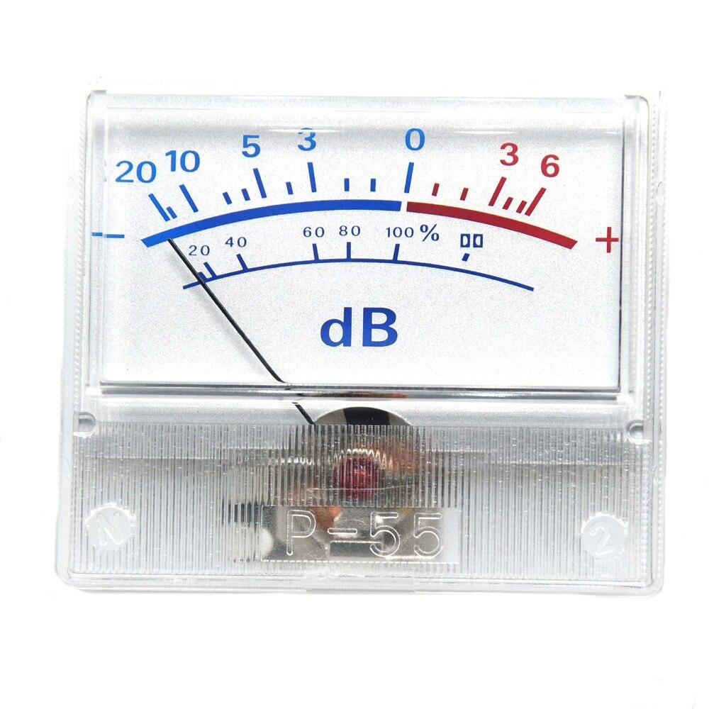 1 stücke P-55 High-präzision VU Meter Kopf Audio DB Level Meter Power Verstärker Rohr DAC Pre-bühne power Sound Druck Meter