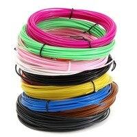 New 10Pcs 10m 1 75mm 10 Colors 3D Pen Filament Plastic Rubber Printing Material For 3D