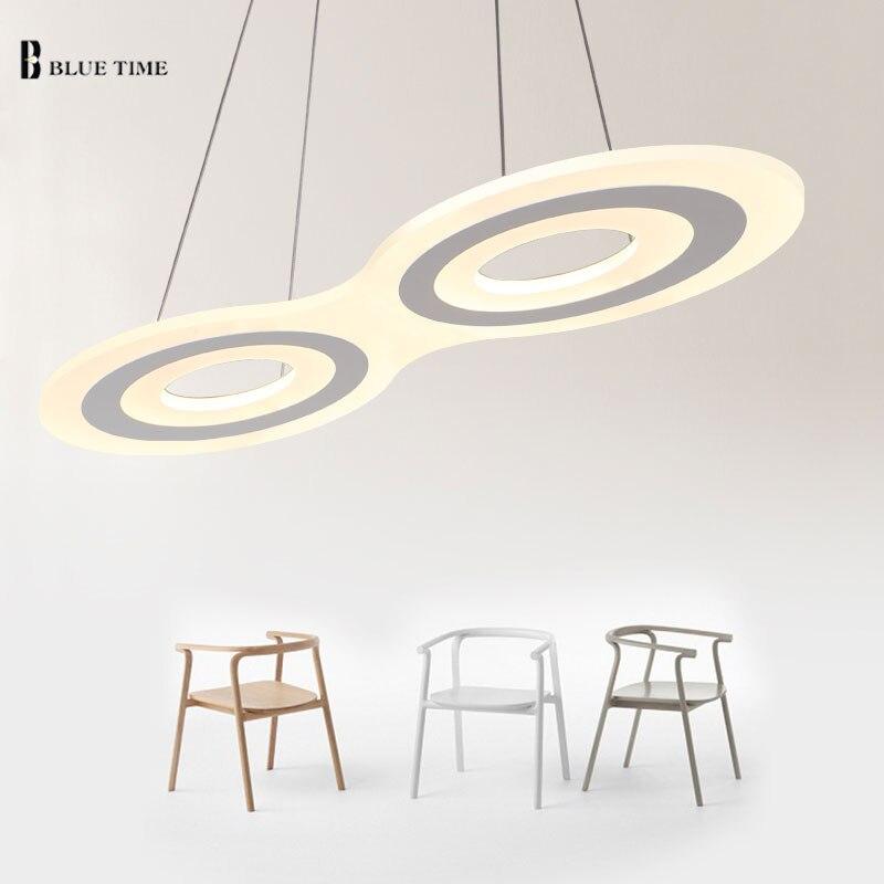 Led Chandelier lights Modern Acrylic Kitchen Home Lighting For living/Dining Room AC85-260V Suspension chandelier lamp Luminaire