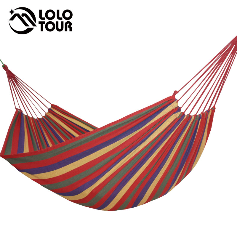 Canvas Double Hammock Cotton 2 People Hamac Widen Garden Swing Sleeping Hamak Rede De Dormir 200*150cm Furniture Hamaca
