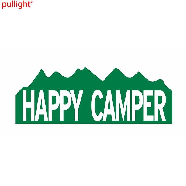 Happy Camper Camping Bumper Sticker Vinyl Car Window Door Decal Waterproof