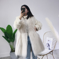 Real Fur Coat 2019 Winter Coat Women Velvet Mink Fur Sleeve White Raccoon Fur Warm Coats Manteau Femme 2018DB80 YY456