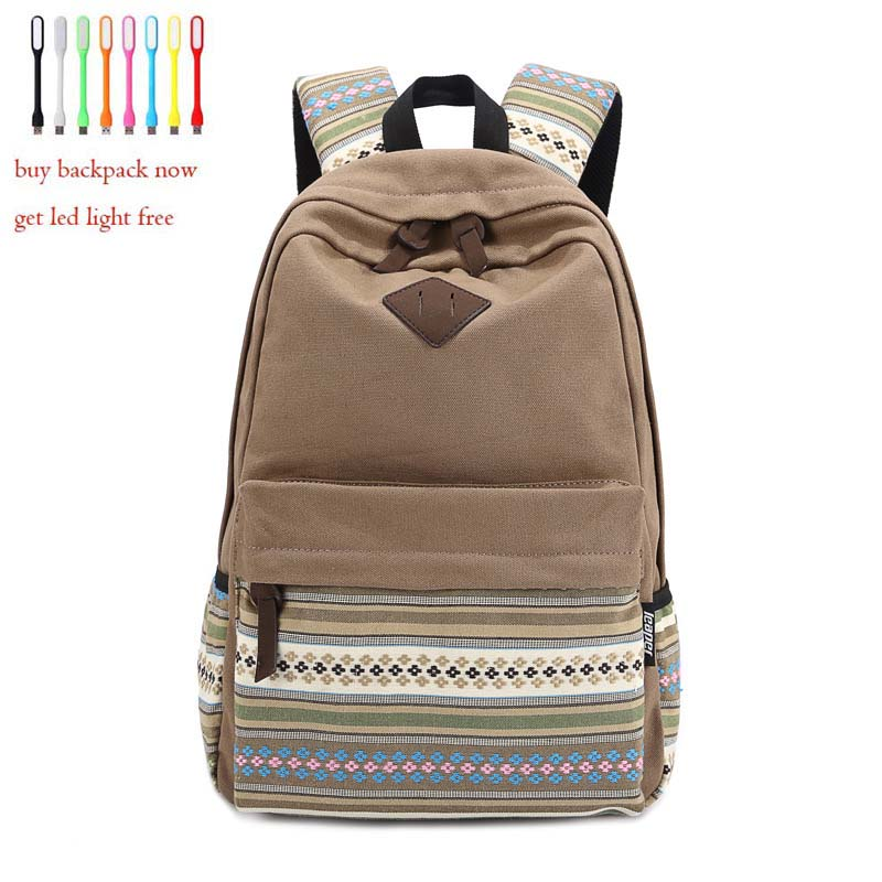 Korean Style Women Backpack Bags Printing Backpack Canvas School Bags For Teenagers Mochila Escolar