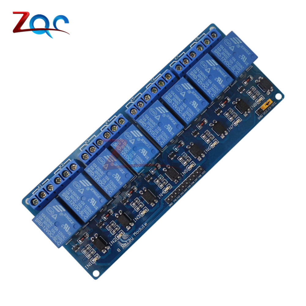 цена на DC 12V 8 Channel Relay Module with Optocoupler for Arduino UNO Mega 2560 1280 ARM PIC AVR