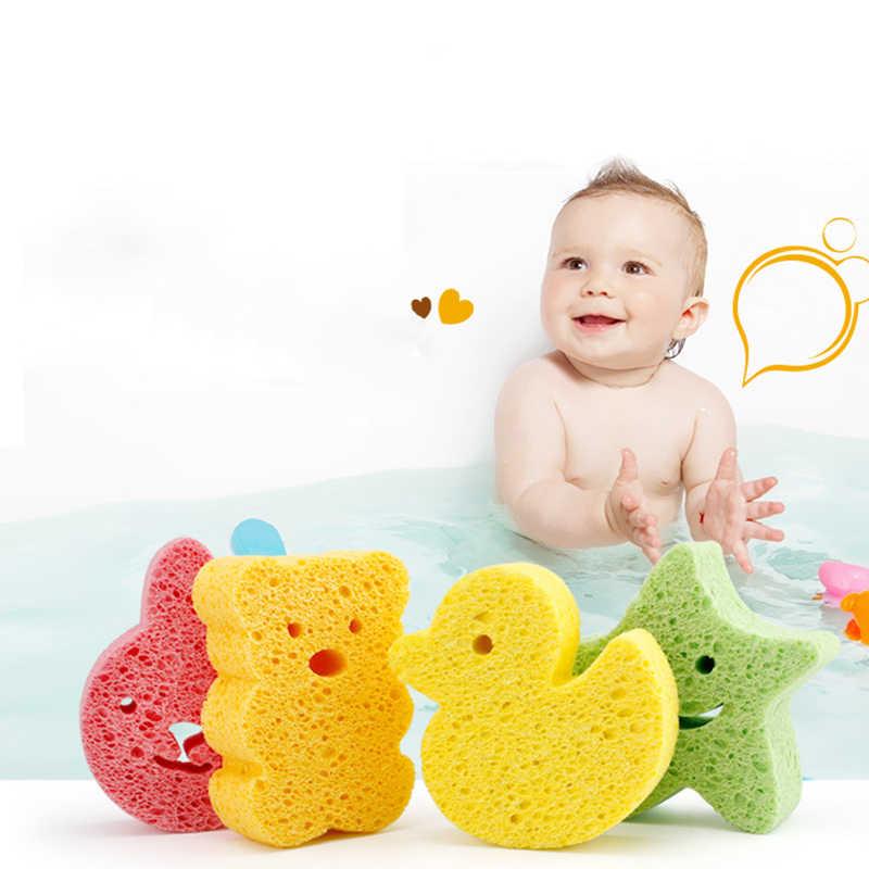 الأطفال حديثي الولادة تنظيف الهيئات الإسفنج فرك الجسم اكسسوارات لطيف الكرتون الصغار دش الإسفنج فرشاة الرضع حمام منتجات الاطفال الرعاية