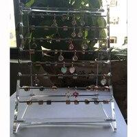 Pryme Interminables Encanta Granos Pendientes de Gota de la Joyería Mostrando Soporte de Exhibición De Acrílico Estante de la Demostración Pantalla Colgantes 25*20*15 cm