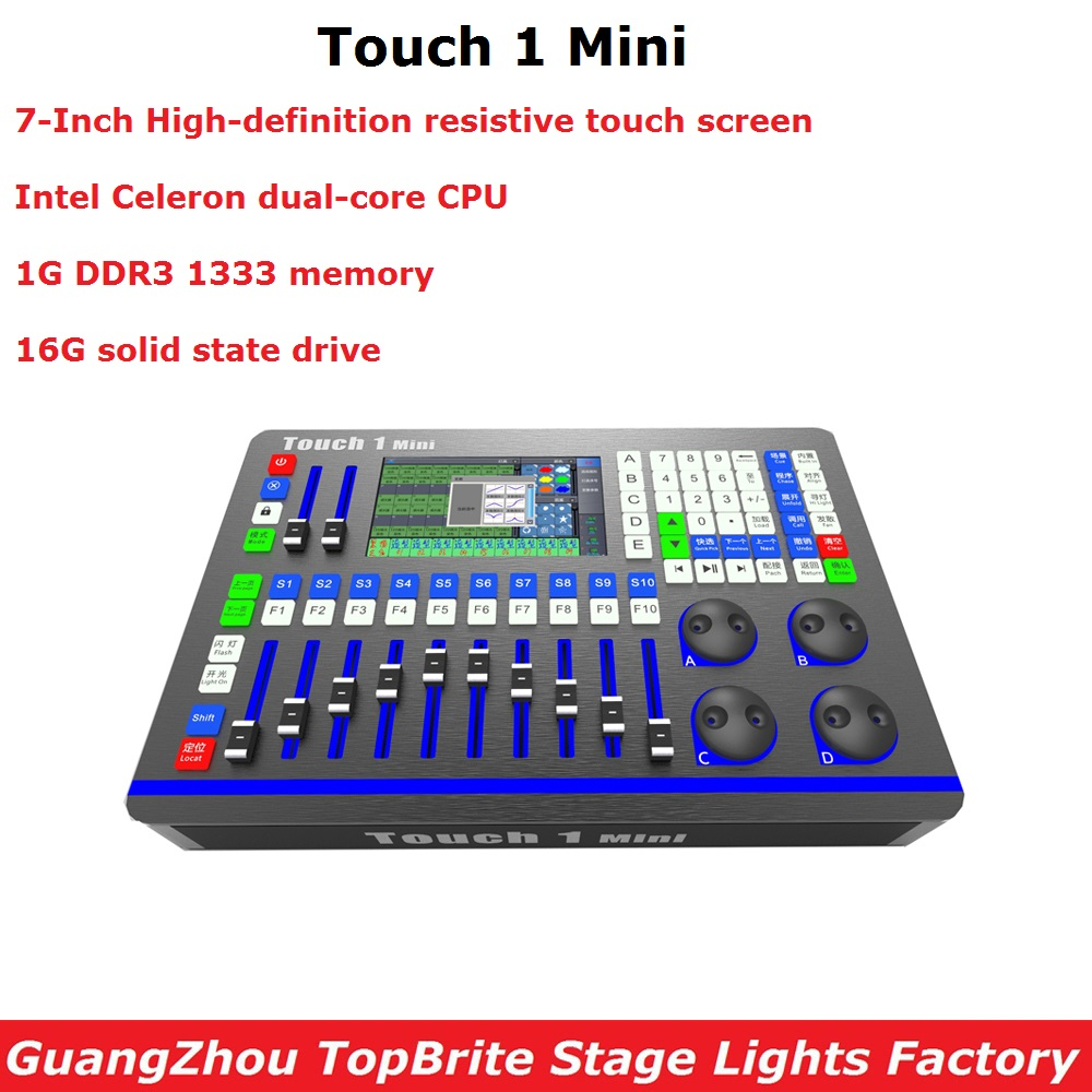 Us 735 75 25 Off Touch 1 Mini Controller Stage Lighting Console Dmx Led Par Moving Head Light Dj Disco Equipments In