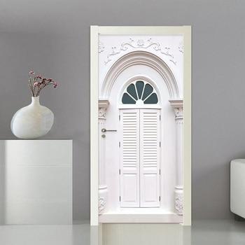 3D наклейка Римский столб Арка Европейский стиль обои Гостиная Спальня креативная Дверь Наклейка ПВХ водонепроницаемые настенные наклейки ...
