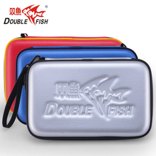 Original Double Fish G Type Professional Table Tennis Hard PU Case  Waterproof Table Tennis Racket Bag for 2 Rackets and 3 balls g zucchi andante and variations and 2 duos for 2 violins
