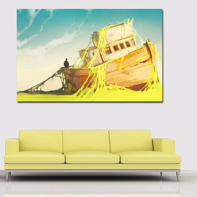 Magnificent Drifting Boats Wall Decor Image Collection - Wall Art ...