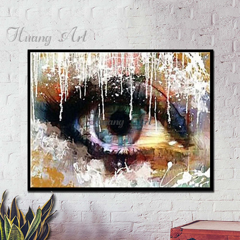 Deep in the eyes of modern Caribbean shaking eyes futurism painting decorative art painting hand-painted oil paintings