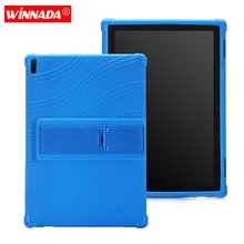Silicone case for Lenovo Tab 4 10 plus cover for Lenovo Tab4 10 TB-X704F/X704N TB-X304F/X304L protective tablet case stand coque