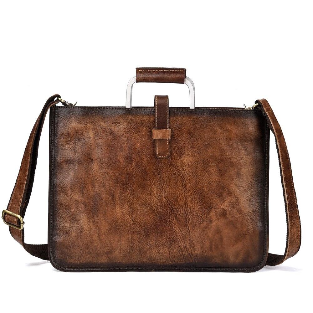 2019 New genuine leather men bags briefcases handbag shoulder crossbody bag men messenger bags leather laptop bag
