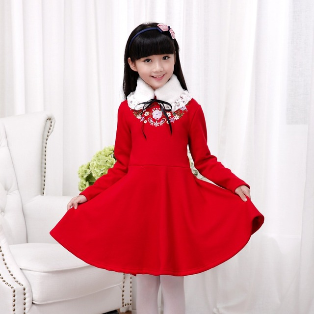 Winter Girls Dresses for Spring Chinese Style Dresses for Children Costumes Princess Dress Queen Cinderella Clothes H398