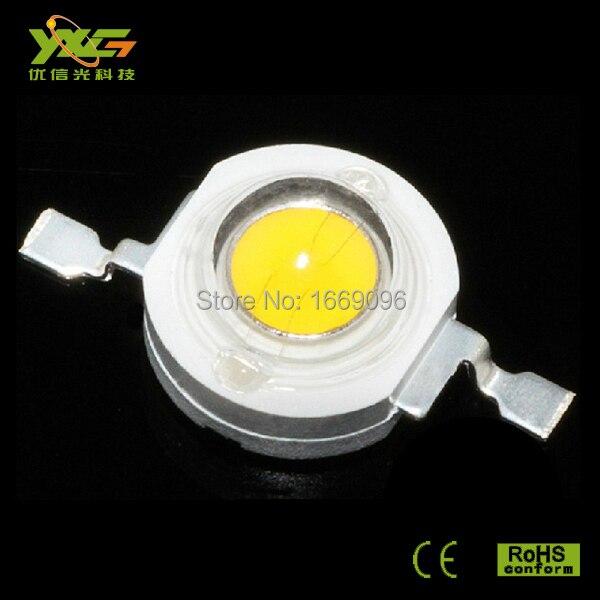 Быстрая 50 шт. высокомощный 1-3 Вт светодиодный Диод 3,2-3,4 в, 4000 лм/Вт белый K 2 года гарантии