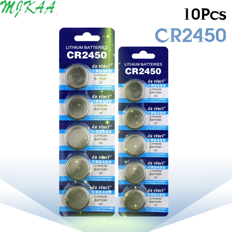 10pcs/pack CR2450 Button Batteries KCR2450 5029LC LM2450 Cell Coin Lithium Battery 3V CR 2450 For Watch Electronic Toy Remote