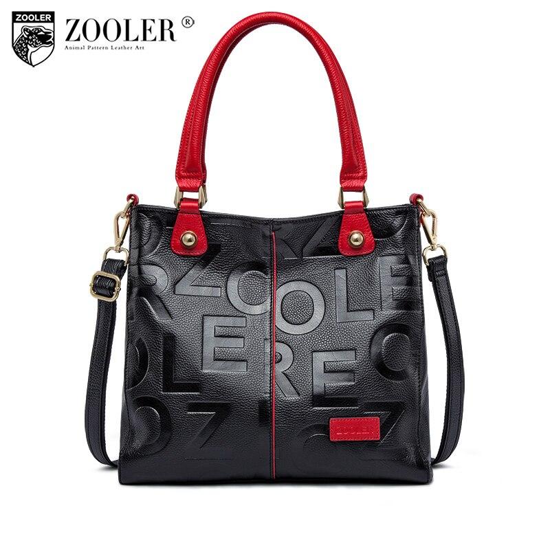 Hot ZOOLER 2018 Winter NEW luxury handbags women bags designer genuine leather bag Cow Leather Handbag mochila feminina#D136